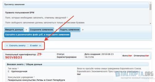 Как заполнить анкету на визу в Литву? - Скачивание анкеты