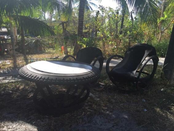 Däck lounge på Koh Mook