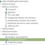 GDAL - extraire la projection
