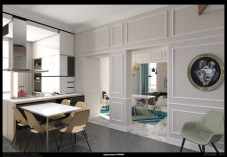 Apartment in Pescara from kitchen to dining area