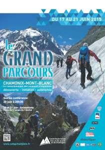 affiche Grand parcours alpinisme chamonix 2015 montagne caf alpi