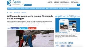 france 3 reportage GFHM chamonix FFACM