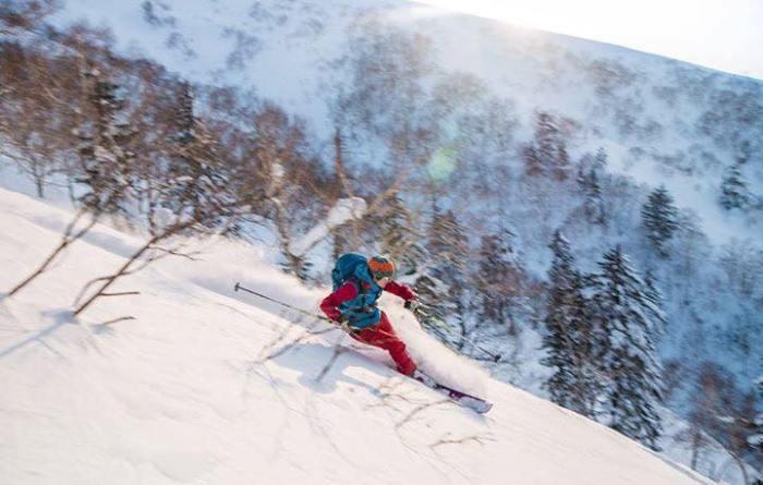 un sac pour skier en ski de rando au Japon