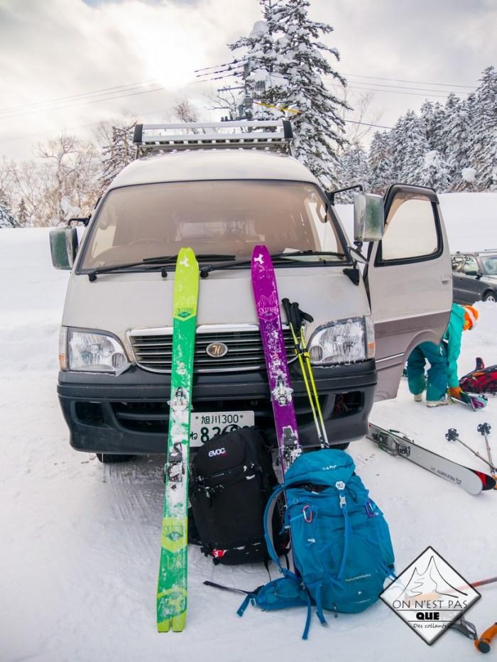 Un sac pour partir skier en radno au Japon- hokkaido
