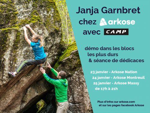 JANJA GARNBRET à Paris du 23 au 25 janvier