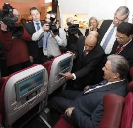 Qatar Airways apresenta seus novos assentos do Boeing 787