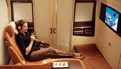 Suites - A bordo do A380