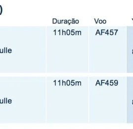 Smiles volta a mostrar disponibilidade na classe executiva da Air France