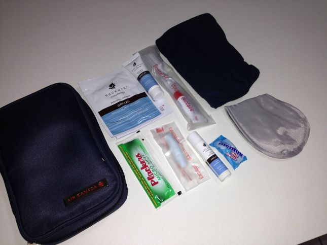air canada amenity kit executive first classe executiva