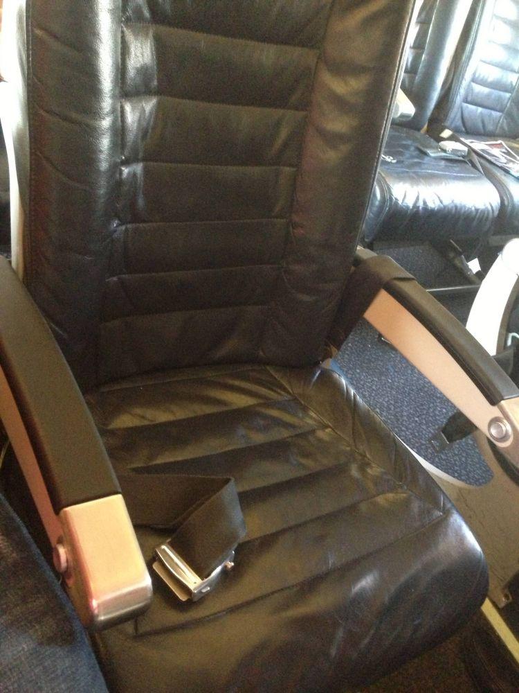 Classe Econômica da United no CRJ700
