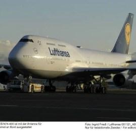 Lufthansa vai usar o B747-400 na rota de/para o Rio de Janeiro