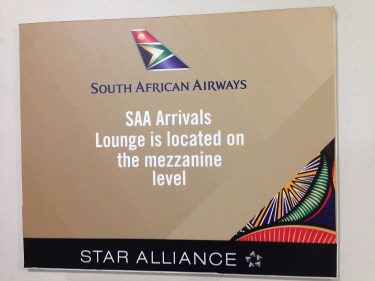 South African Airways Arrival Lounge