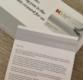 Kit de Boas Vindas do cartão Platinum Elite do IHG Rewards