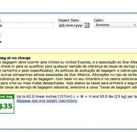 United reduz significavelmente a franquia de bagagem para clientes Star Alliance Gold