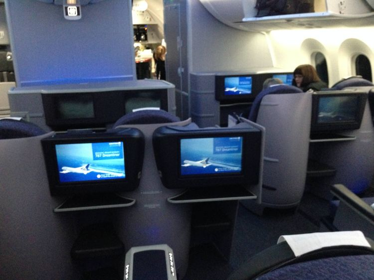 United Boeing 787 Classe Executiva BusinessFirst