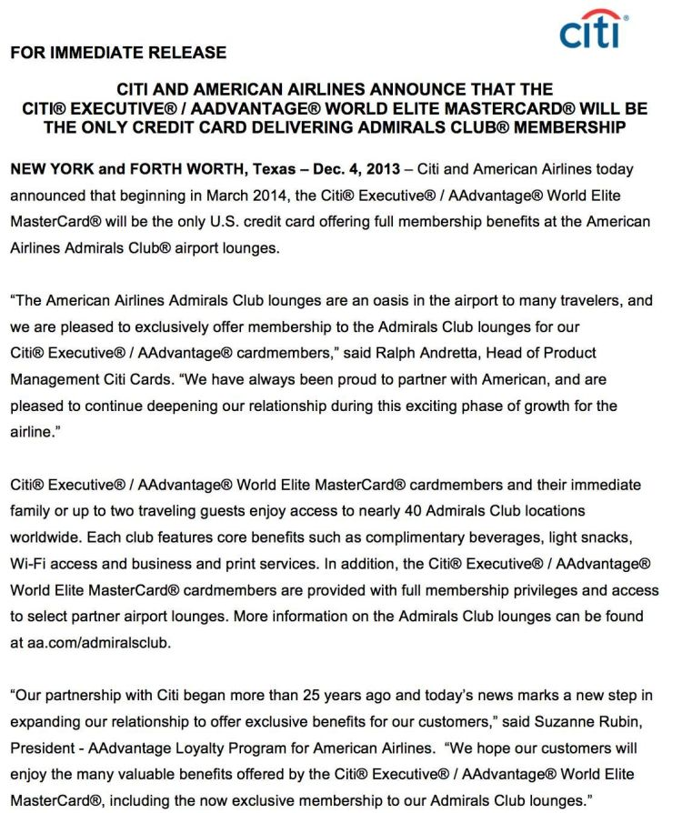 citi credit card admirals access