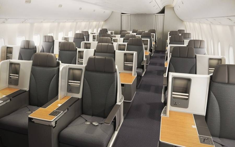 american airlines b767-300 executiva new business class