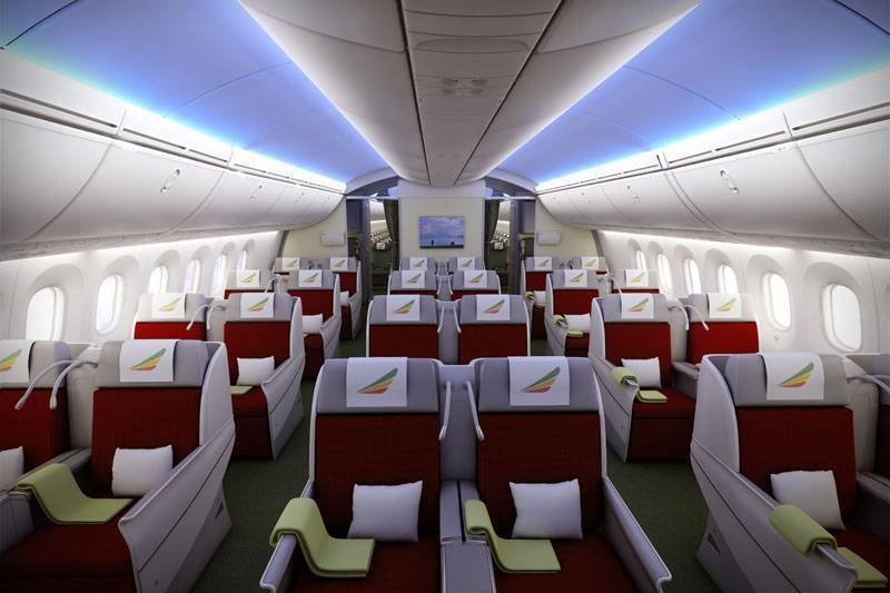 ethiopian 787 business class passageirodeprimeira