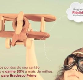 Smiles oferece 30% a mais de milhas para clientes Bradesco Prime