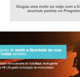 TudoAzul firma parceria com a EagleRider Brasil