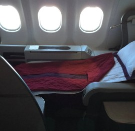 Primeira Classe da Qatar Airways no A340