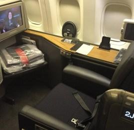Primeira Classe da American Airlines no B777-300ER