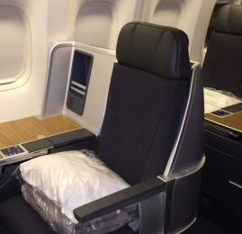 Nova Classe Executiva da American Airlines no B767-300 no vôo inaugural de Campinas para Nova York