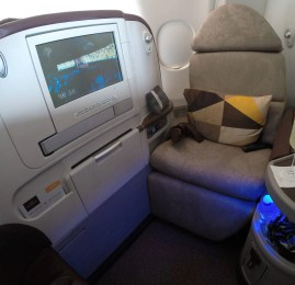 Classe Executiva da Jet Airways no A330 (operado pela Etihad)