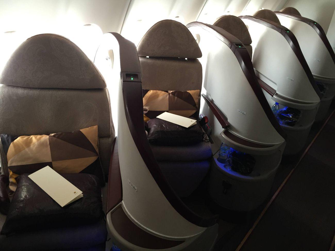 Jet Airways A330 Business Class Etihad Passageirodeprimeira -08