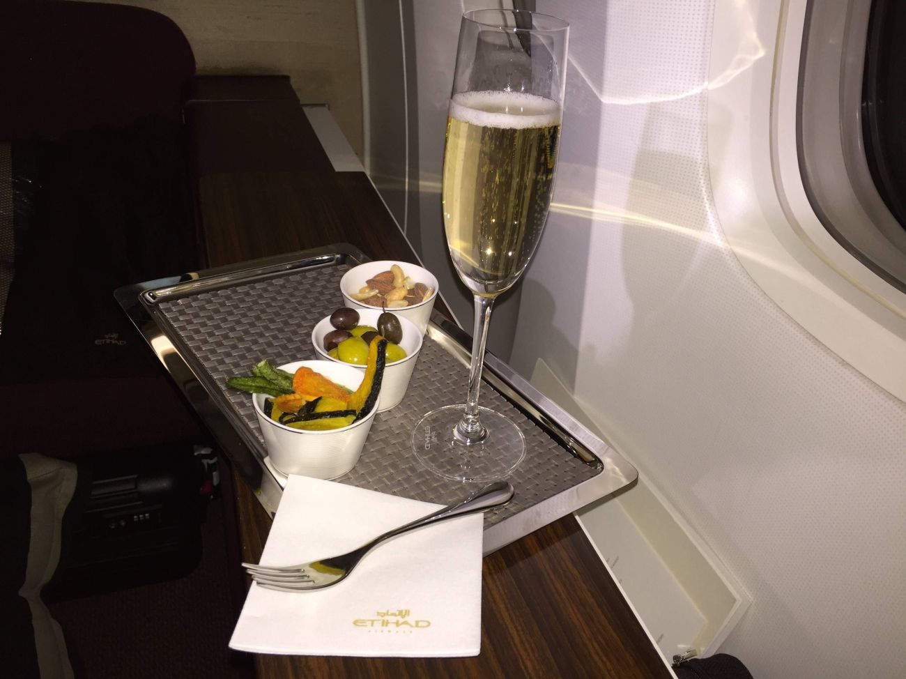 Jet Airways B777 First Class Etihad Passageiro de Primeira-29