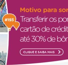 Smiles oferece até 30% de bônus nas transferências de pontos dos cartões de crédito