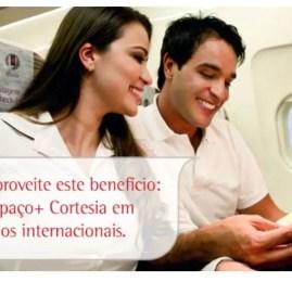 TAM oferece Espaço+ Cortesia em voos internacionais para clientes TAM Fidelidade Black, Vermelho Plus, LANpass Comodoro e Comodoro Black e oneworld Emerald