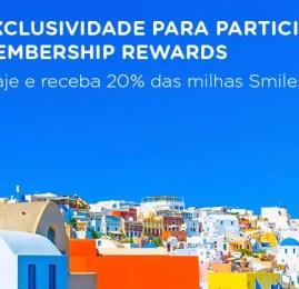 Smiles oferece 20% de desconto para clientes American Express na emissão de bilhetes em classe executiva