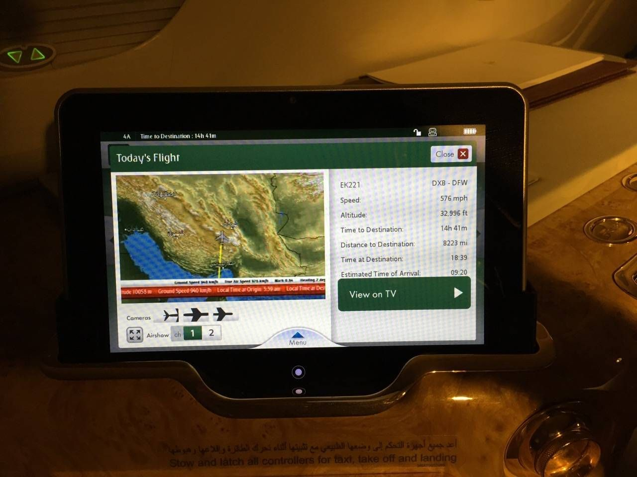 Emirates First Class A380 DXB-DFW-045