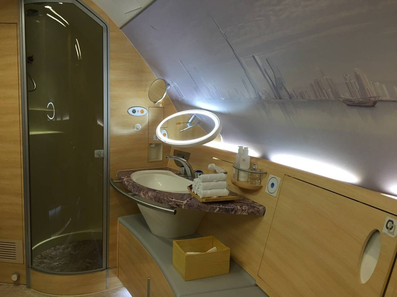 Emirates First Class A380 DXB-DFW-049
