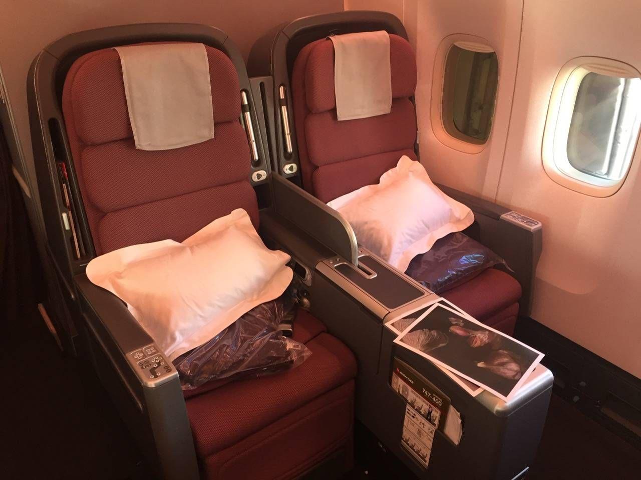 Qantas B747 Business Class-02