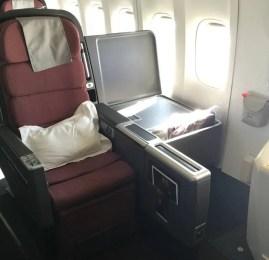 Classe Executiva da Qantas no B747 – Sydney para Santiago do Chile