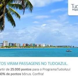 Clientes Bradesco que transferirem pontos para o TudoAzul ganharão 40% de bonus