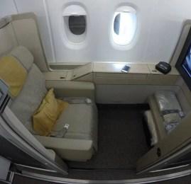 Primeira Classe da Asiana no A380 – Seoul para Los Angeles