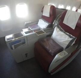Classe Executiva da Qatar no B777-300ER – Doha para Cairo (Vendido como Primeira Classe)