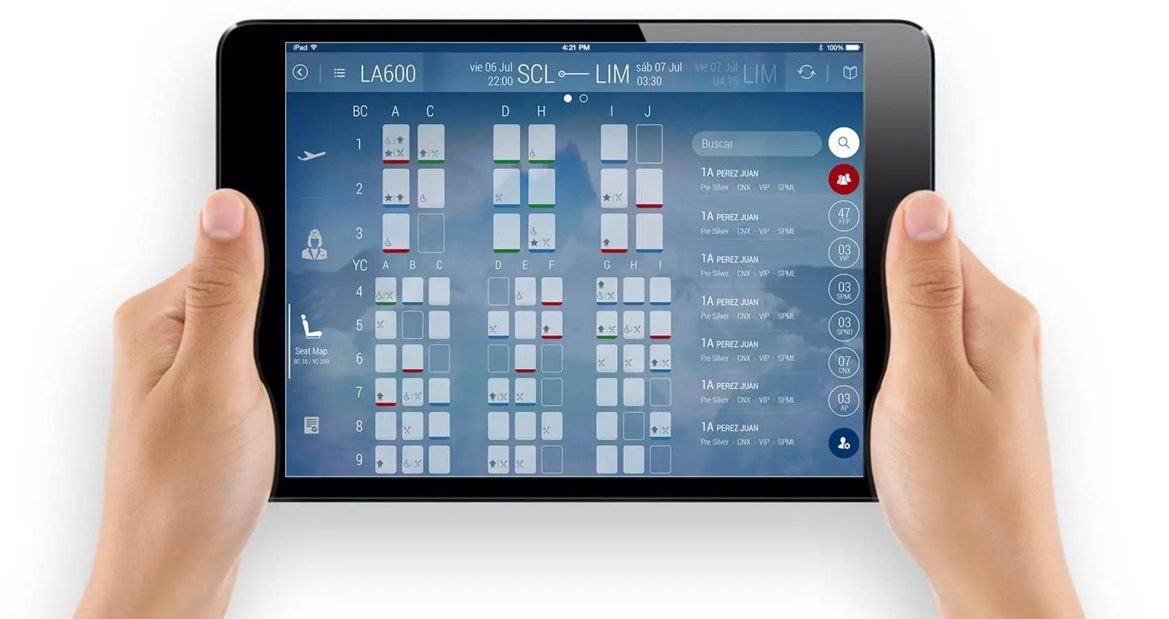 Proyecto Tablets para Tripulantes de Cabina - Grupo LATAM