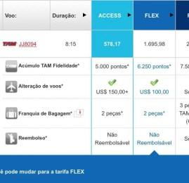 Tarifa Plus da TAM deixará de oferecer benefícios extras
