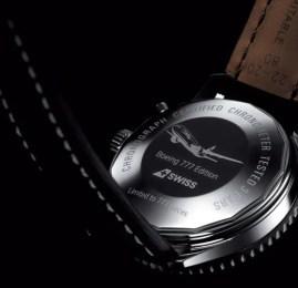 SWISS e Breitling lançam relógio exclusivo em homenagem ao B777