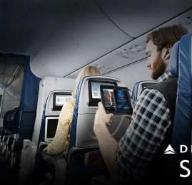 Delta passa a oferecer todo seu entretenimento de bordo como cortesia