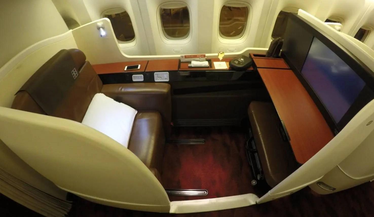 Primeira Classe da JAL no B777-300ER