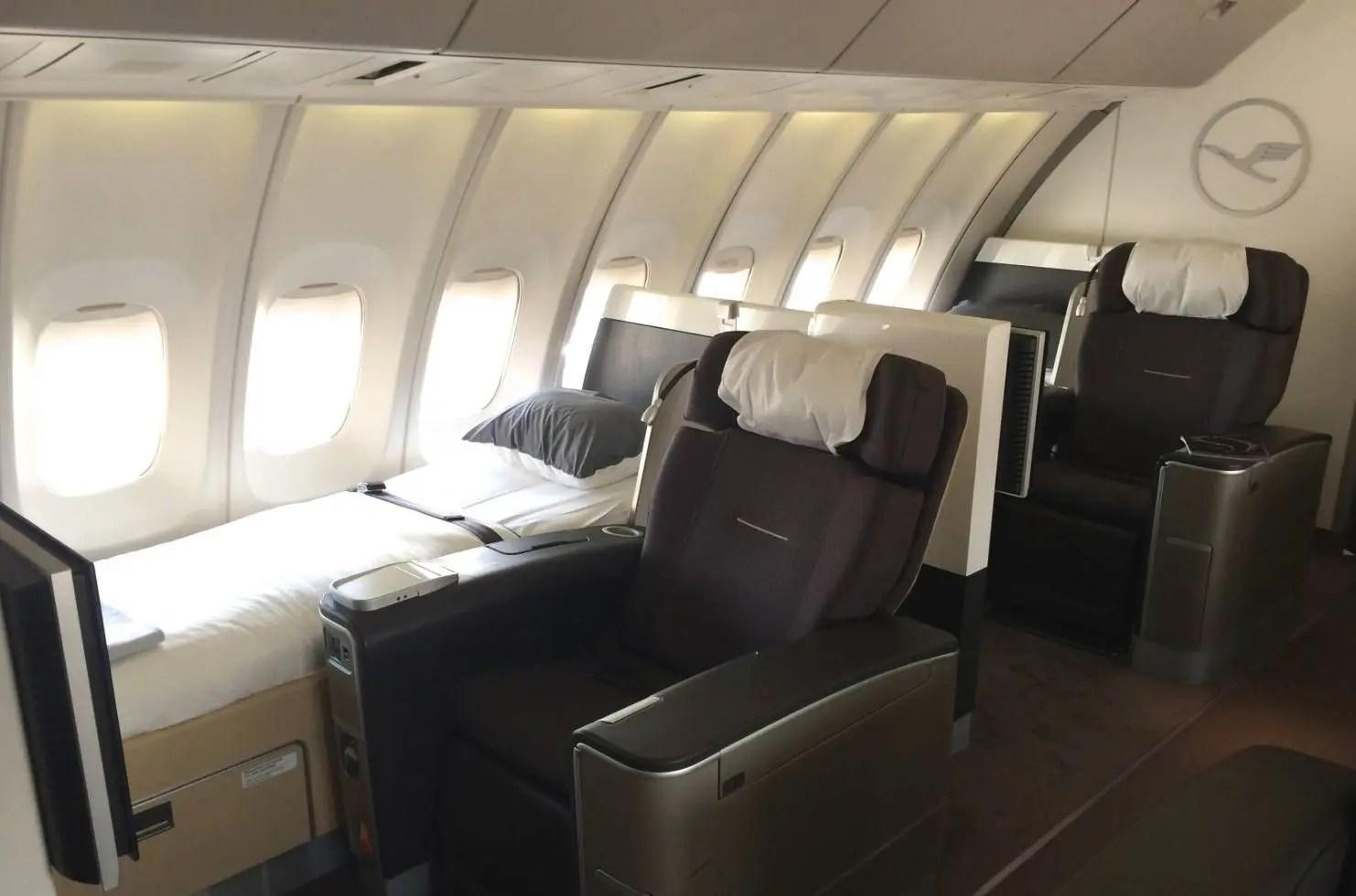 Antiga Primeira Classe da Lufthansa no B747-400