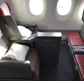 Classe Executiva da LATAM no A350 – Abu Dhabi p/ Doha (operado pela Qatar Airways)