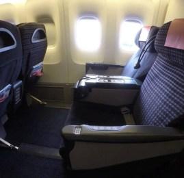 Classe Executiva doméstica (J Class) da JAL no B767 – Tokyo para Osaka