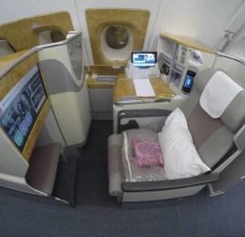 Classe Executiva da Emirates no A380 – São Paulo para Dubai