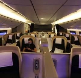 First Wing Check-in e Primeira Classe da British Airways no B777 – Londres para Doha